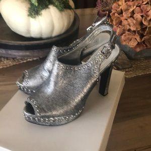 BCBG Silver/Pewter platform with 4.5 heel